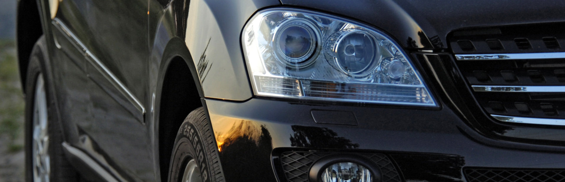 head light of a car